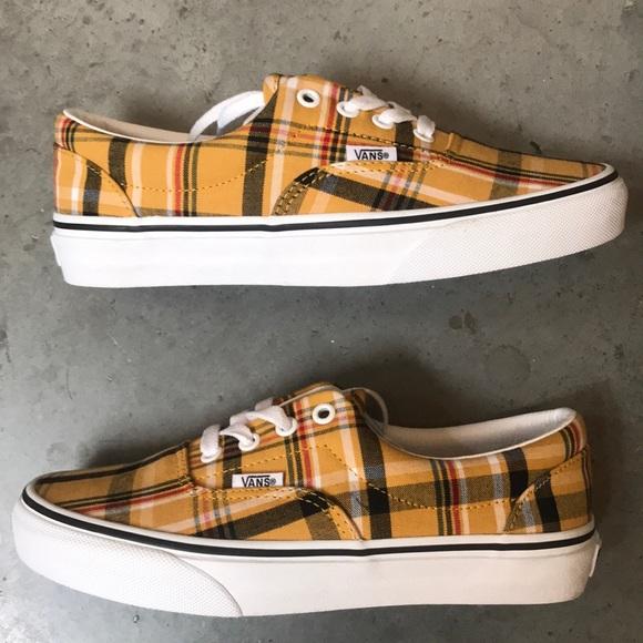 Vans Shoes   Vans Era Plaid Yellow